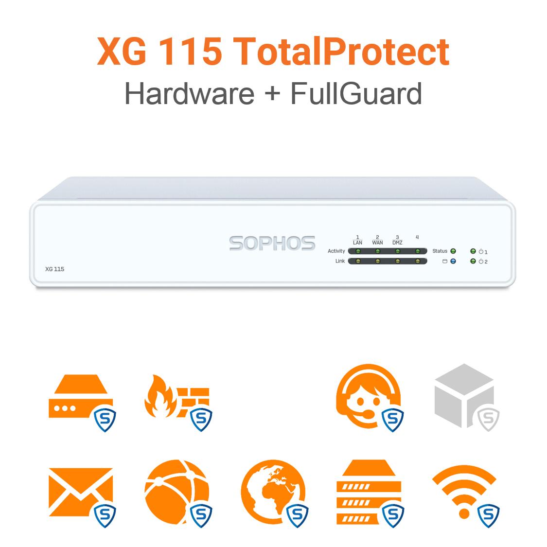 Sophos XG 115 TotalProtect Bundle (Hardware + Lizenz)