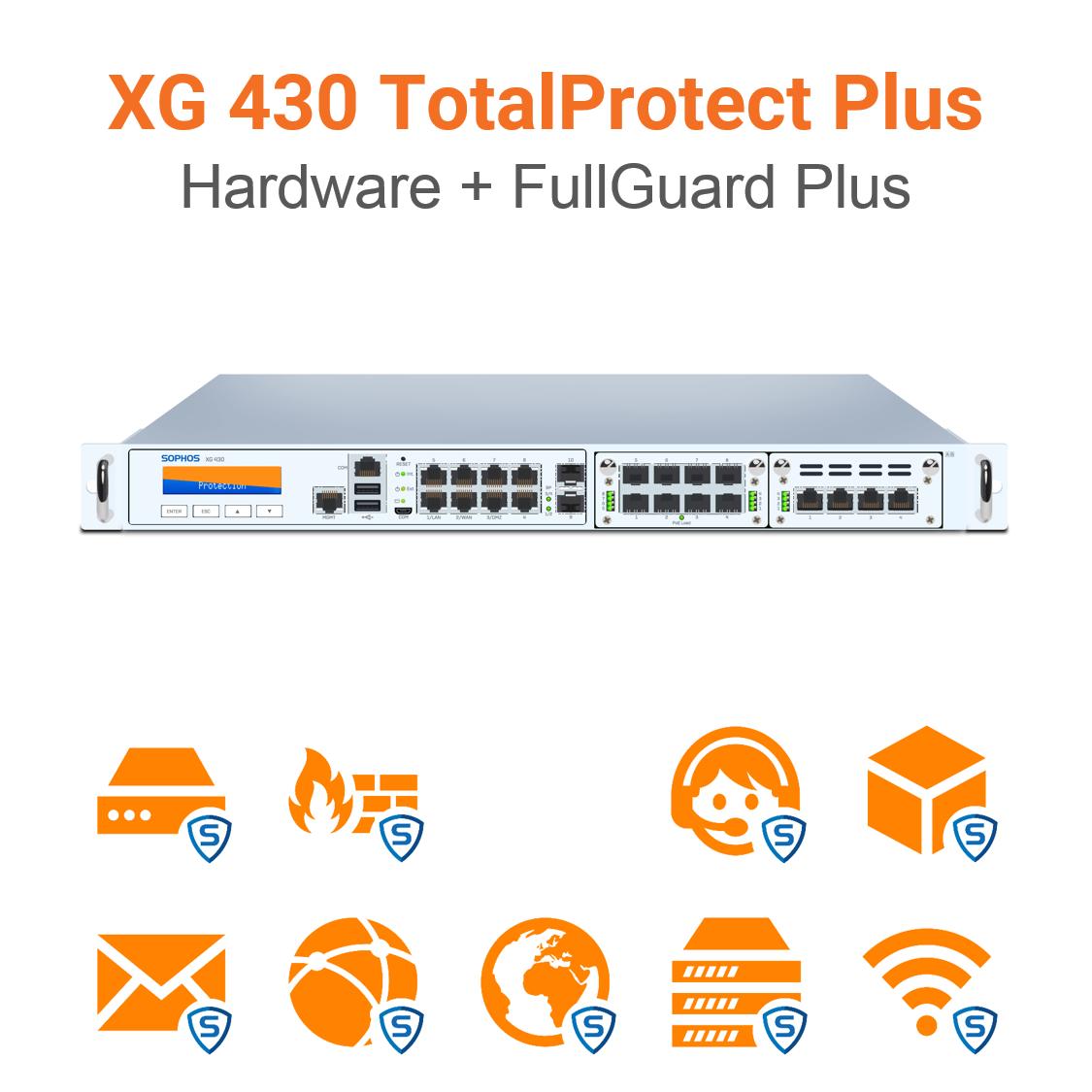 Sophos XG 430 TotalProtect Plus Bundle (Hardware + Lizenz)