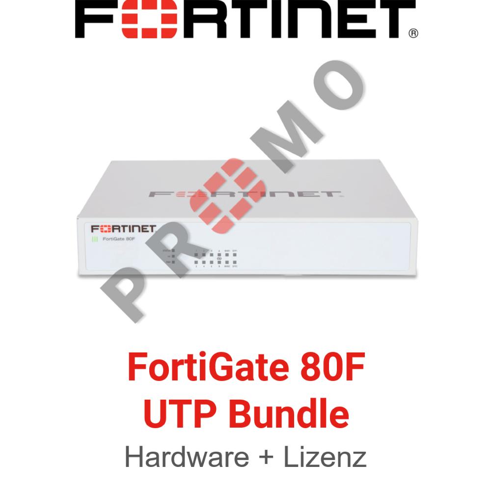 Fortinet FortiGate-80F - UTM/UTP Bundle (Hardware + Lizenz)