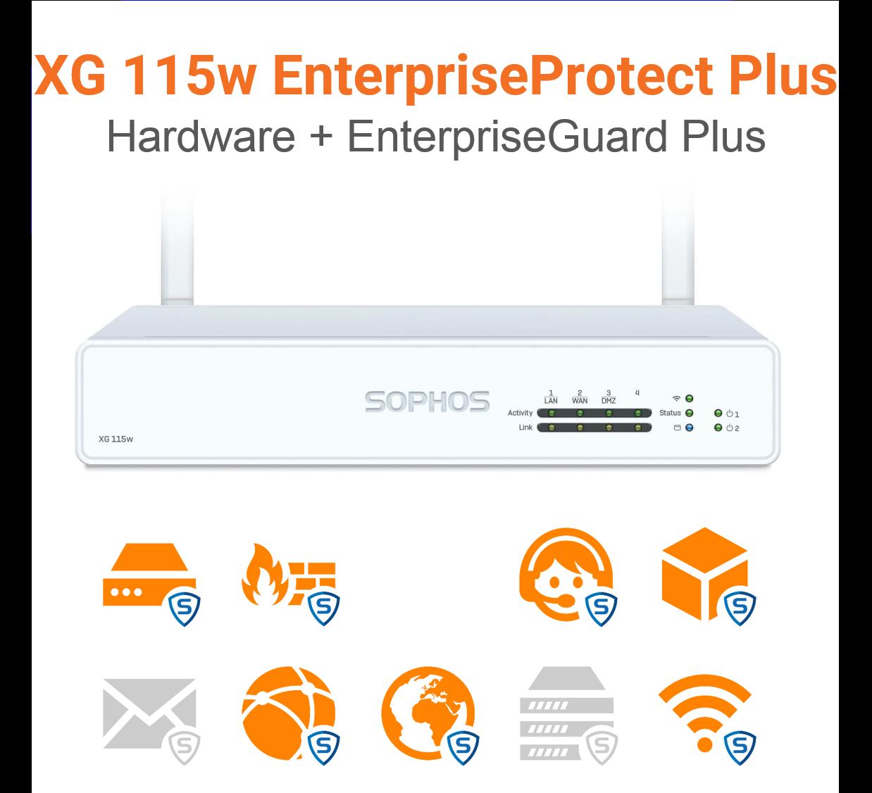 Sophos XG 115w EnterpriseProtect Plus Bundle (Hardware + Lizenz)